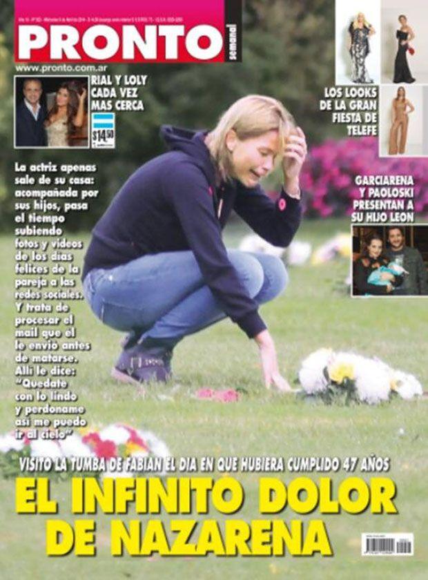 Nazarena Vélez: un mar de lágrimas en la tumba de Fabián Rodríguez