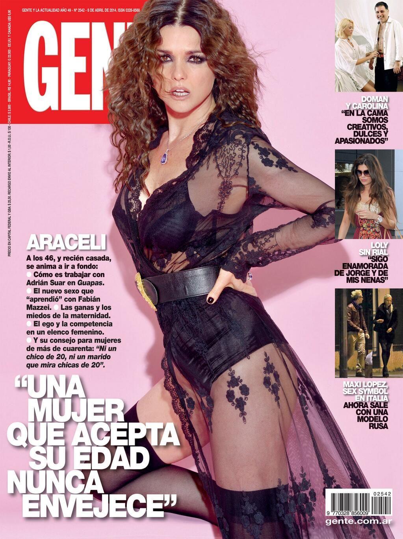 Tapas de revistas: Araceli González; y Nazarena en la tumba de Fabián Rodríguez
