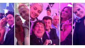 Las selfies de la noche de la fiesta de Telefe: los looks de las estrellas