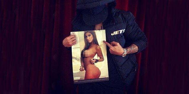 Alexander se puso hot con una foto de Rincón desnuda: Mi póster preferido