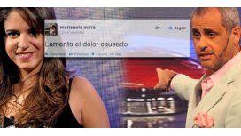 Marianela Mirra finalizó la pelea con Rial con un pedido de disculpas vía Twitter