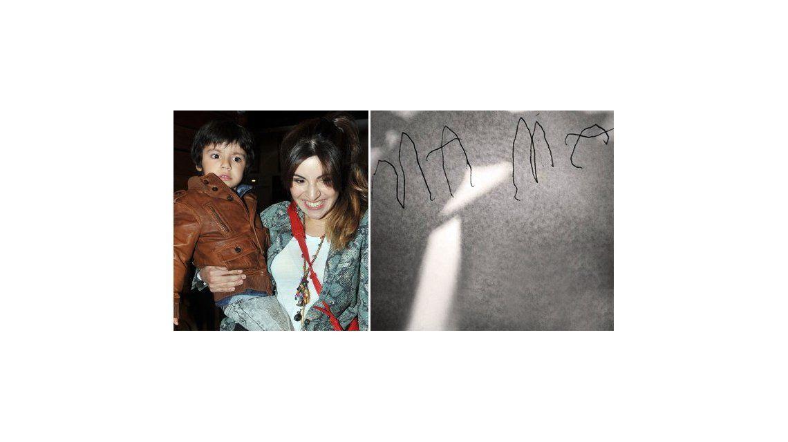 A Gianinna Maradona se le cae la baba con su hijo Benjamín: escribió mamá