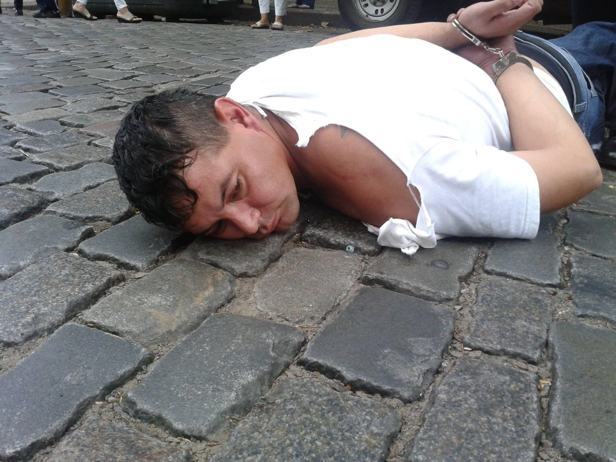 Esta tarde: Gerardo Romano ayudó a detener a un ladrón en Palermo