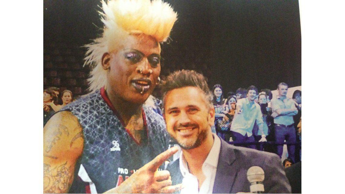 Leo Montero y el sueño del pibe: conoció a Dennis Rodman, exfigura de la NBA