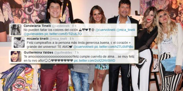 Tinelli cumple años: los tiernos mensajes de Guillermina Valdes y sus hijos