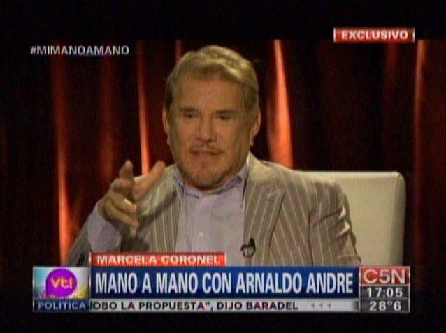 Arnaldo André: La violencia en la televisión no es un buen ejemplo para la sociedad