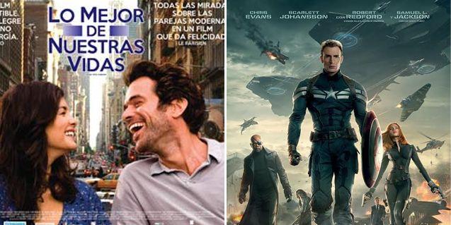 La vuelta de Capitán América y Lo mejor de nuestras vidas, ideales para el finde