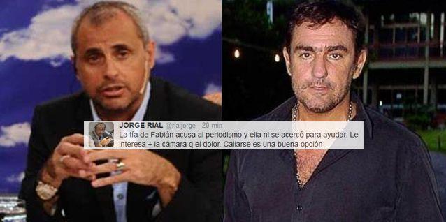 Jorge Rial vs la tía de Fabián Rodríguez: Le interesa más la cámara que el dolor