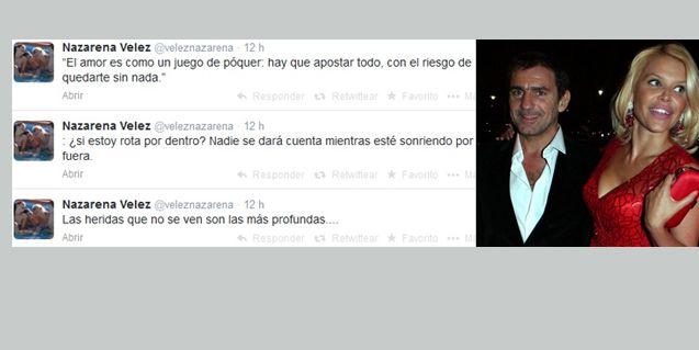 Los misteriosos tweets de Nazarena Vélez, ¿en crisis con Fabián Rodríguez?