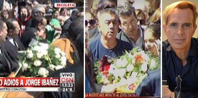 El último adiós a Jorge Ibáñez en el Cementerio de la Recoleta