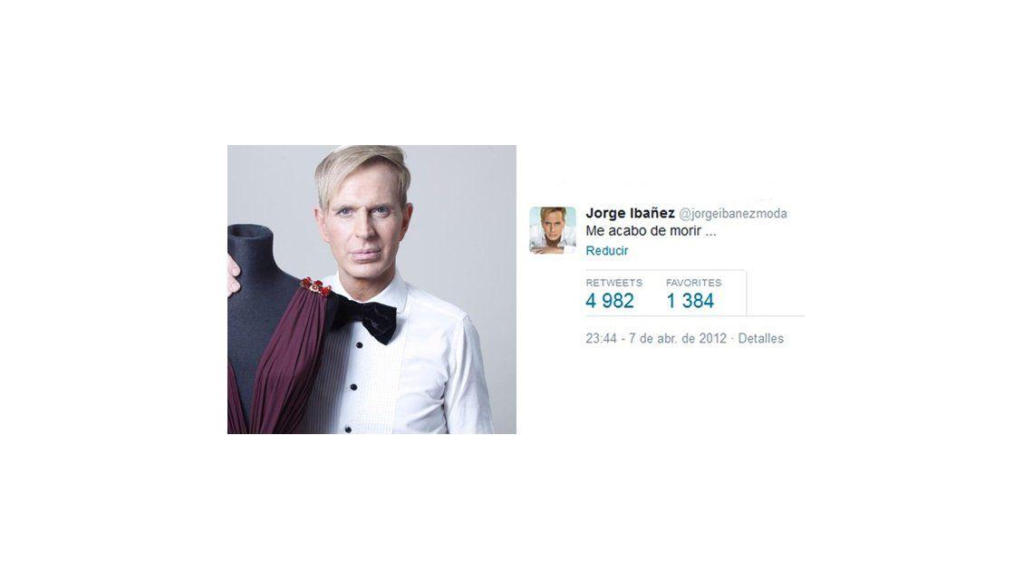 El mensaje más retuiteado de Jorge Ibáñez: Me acabo de morir