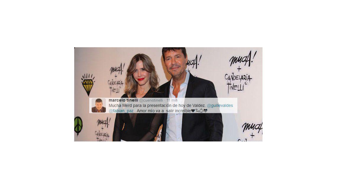El romántico tweet de Tinelli para Guillermina Valdes