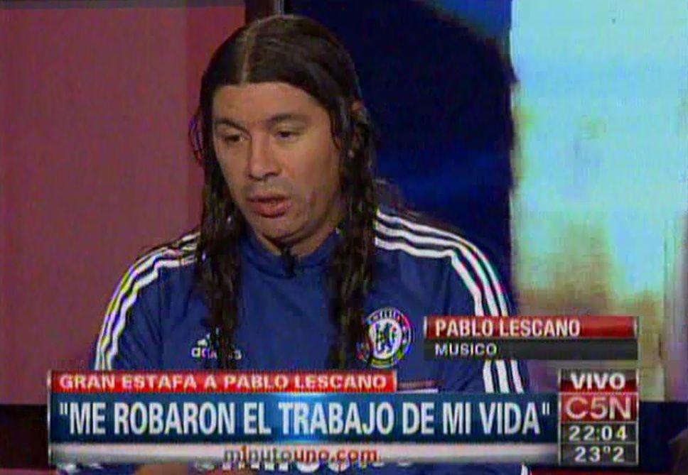 Pablo Lescano denunció una estafa millonaria: Me robaron el trabajo de toda mi vida