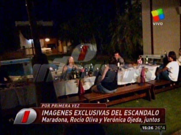 Apareció la foto de Oliva y Ojeda en la casa de Maradona: la aclaración de Dalma