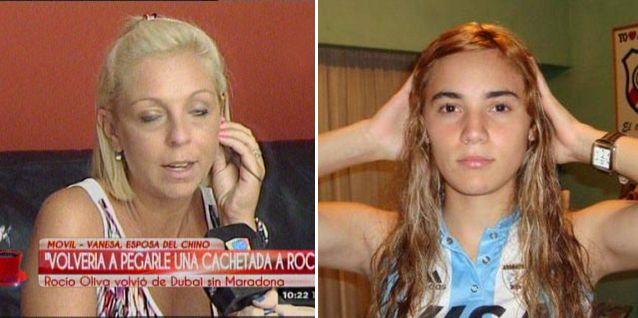 La esposa del Chino Maradona explicó el cachetazo a Rocío Oliva