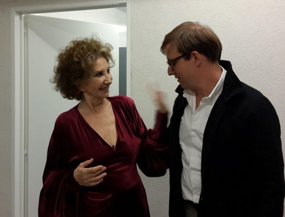 Norma Aleandro y Geretto comenzaron su gira en la Casa de Villa 21 de Barracas