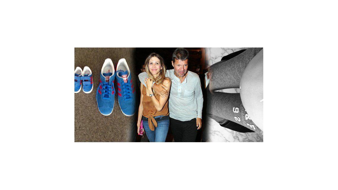 Las tiernas fotos de Tinelli y Guillermina Valdes, ansiosos con la llegada de Lorenzo