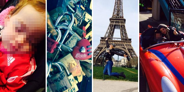 El álbum de las vacaciones de Evangelina Anderson con sus hijos en París