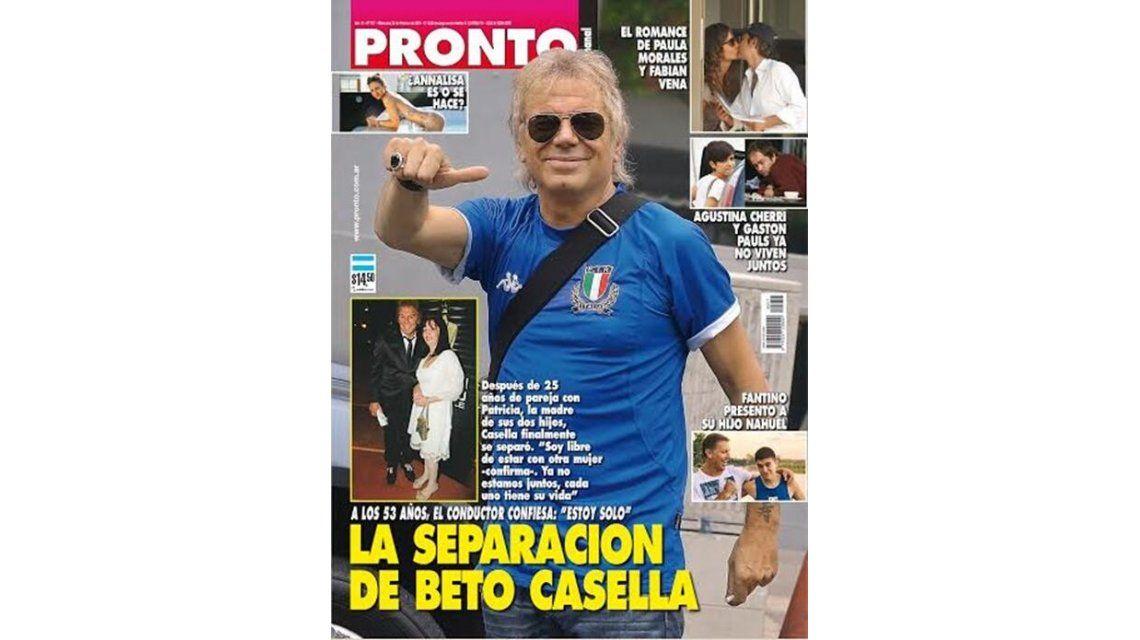 Beto Casella lo confirma: Estoy separado pero es una noticia vieja, no es de ahora