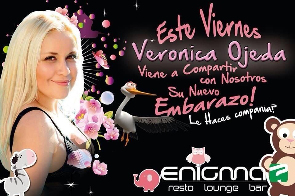 Verónica Ojeda hace actos de presencia y comparte su embarazo en un boliche