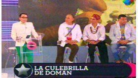 Tres brujos curaron la culebrilla de Doman en televisión