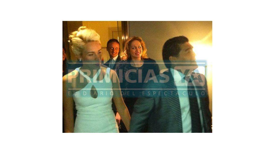 El video del compromiso de Diego Maradona y Rocío Oliva en Roma
