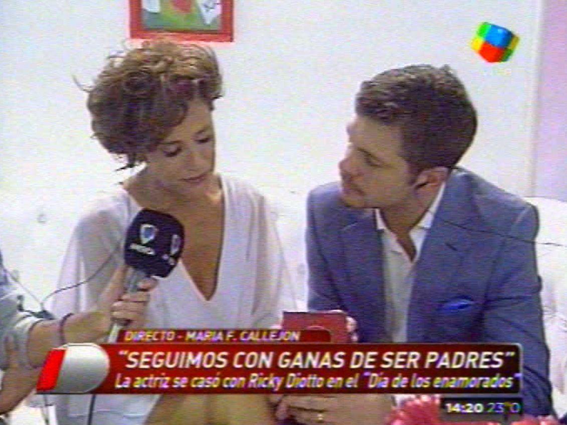 La emoción de María Fernanda Callejón: se casó el Día de San Valentín