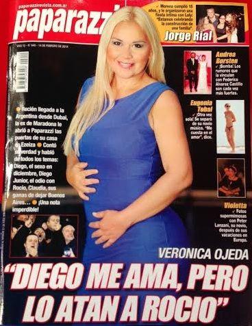 La primera producción de Verónica Ojeda, embarazada de Maradona