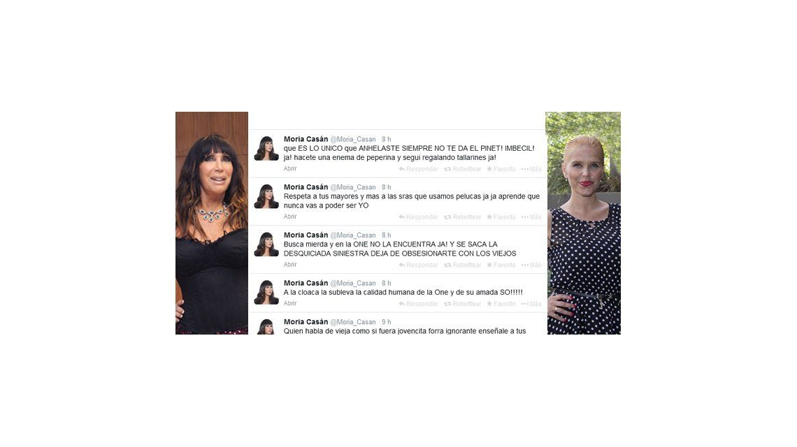 Moria Casán disparó contra Nazarena Vélez: Hacete un enema de peperina