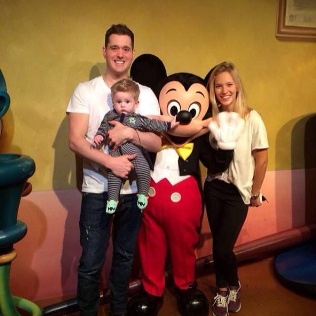 Las vacaciones de Luisana Lopilato, Michael Bublé y su hijo Noah en Disney