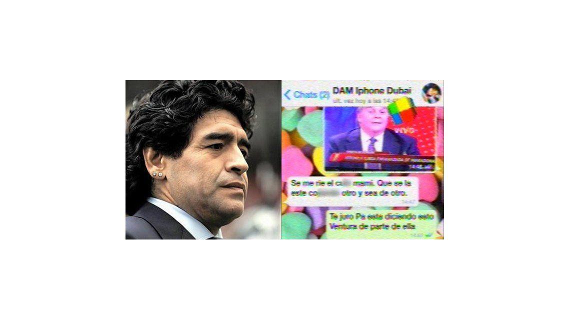 La respuesta de Maradona ante el embarazo de Ojeda: Se me ríe el culo, mami
