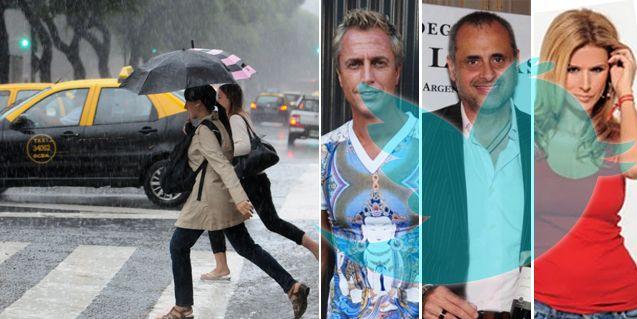 Los mensajes de los famosos por el temporal en Buenos Aires