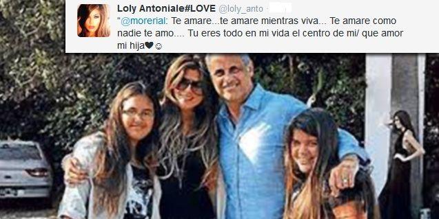 La historia de amor Loly Antoniale, Jorge Rial y su familia: Qué amor mi hija
