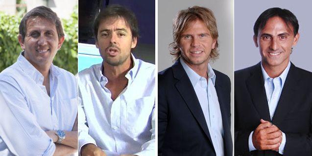Las duplas de Fútbol para todos: Mariano Closs-J. P. Varsky; Vignolo-Diego Latorre
