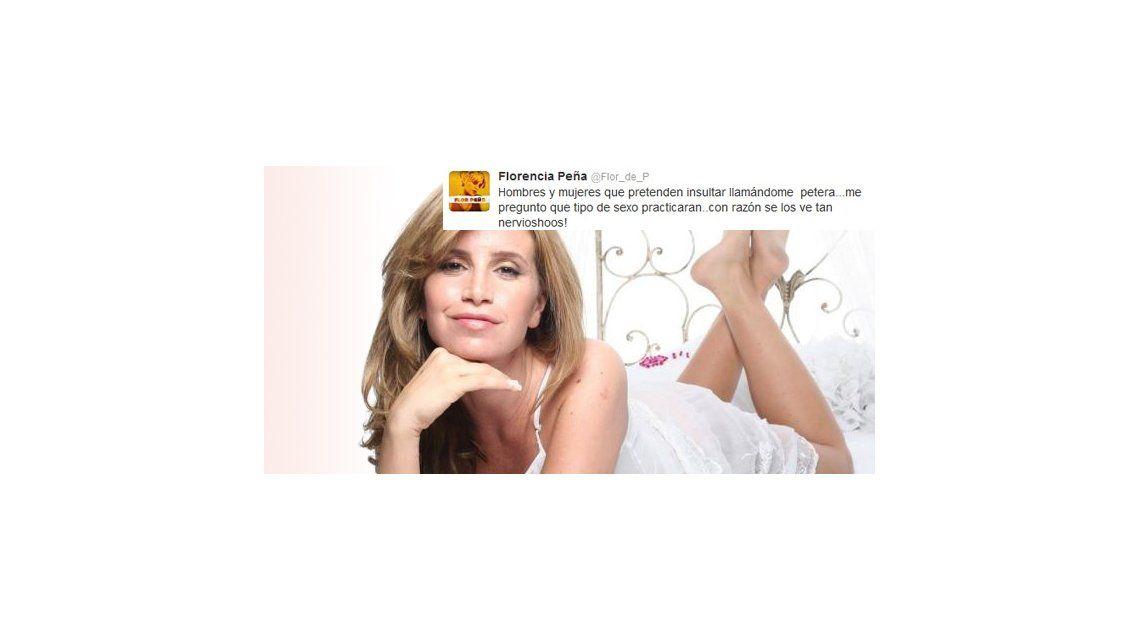 Florencia Peña se defiende en Twitter: Pretenden insultar llamándome petera