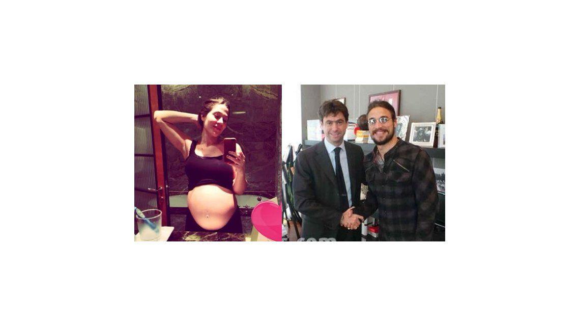 Jimena Barón, embarazada de 8 meses, y Daniel Osvaldo se fueron a vivir a Italia