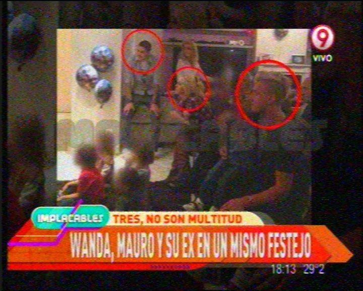 La imagen más buscada: Wanda, Icardi y Maxi López, juntos en un cumpleaños