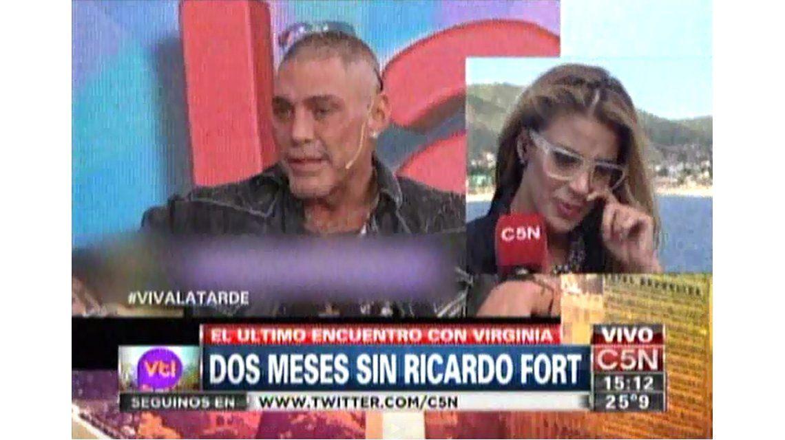 Las lágrimas de Virginia Gallardo al recordar a Ricardo Fort