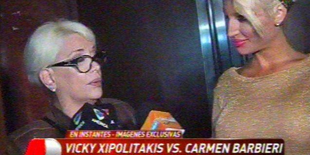 El fuerte cruce entre Carmen Barbieri y la Griega Vicky Xipolitakis