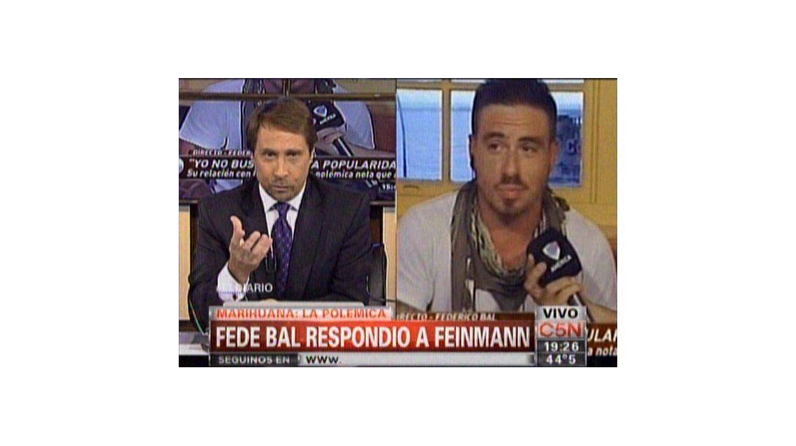 Eduardo Feinmann, contra Federico Bal: Usted se cree un piola bárbaro y no mide