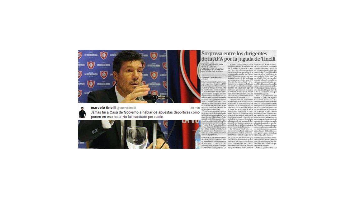 Tinelli desmiente a La Nación y aclara su reunión en Casa de Gobierno por el fútbol