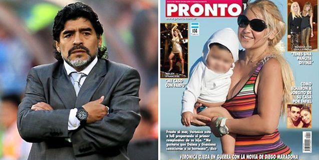 Diego Maradona lleva a juicio a Verónica Ojeda por posar con su hijo para una revista