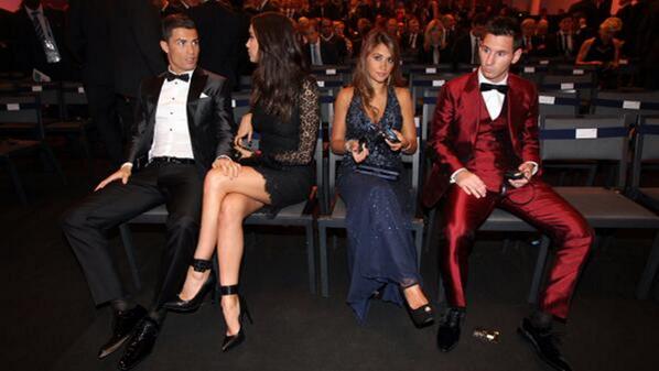 El look de Messi y su mujer, Antonella Roccuzzo, en el Balón de Oro