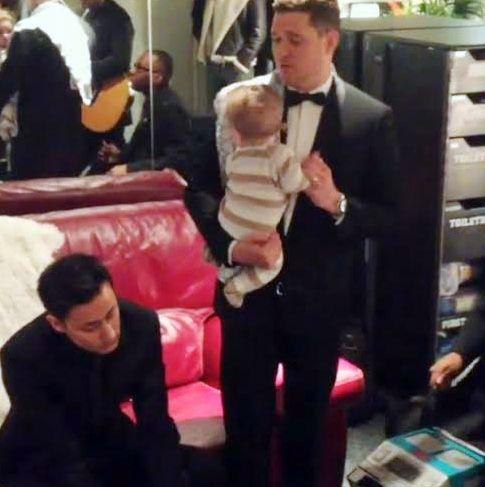 El tierno video de Michael Bublé cantándole a Noah, su hijo con Luisana Lopilato