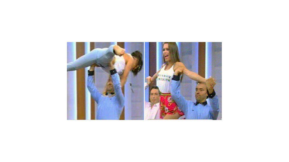 Adabel Guerrero le dio una clase de baile a Adrián Pallares en Desayuno