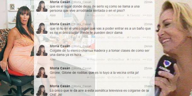 Moria vs Andrea Ghidone: Vive en el piso y arrodillada; es una Arrastrada