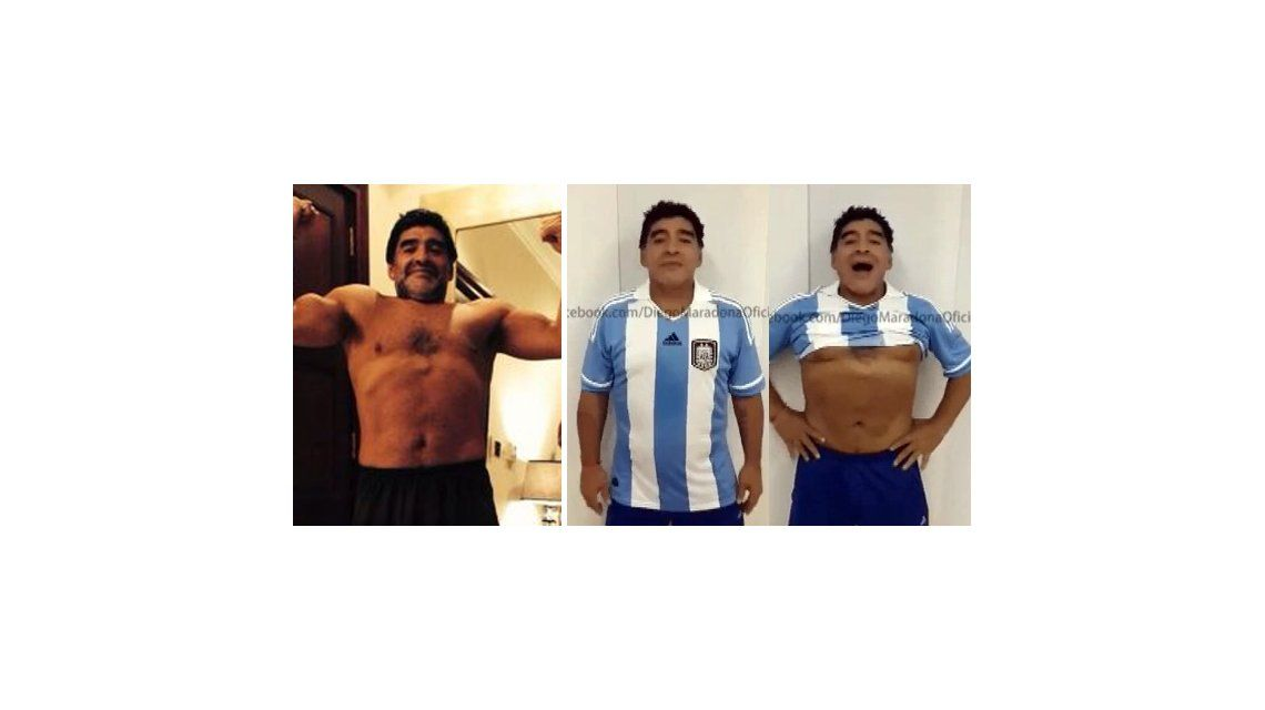 Diego Maradona, polémico, mostró su físico: No hay photoshop, que la chupen