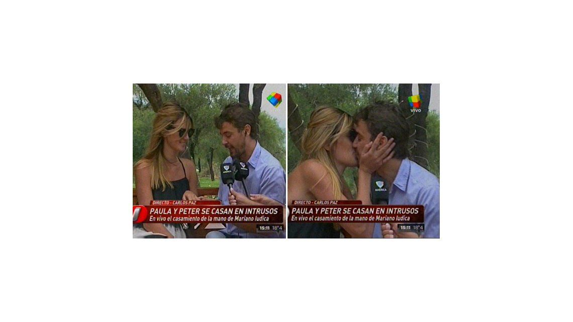 ¡Que vivan los novios! Paula Chaves y Pedro Alfonso se casaron en televisión