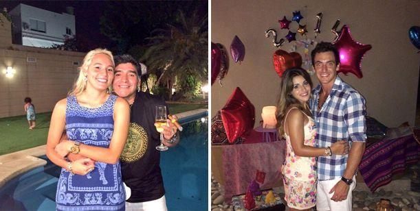 Claudia y Gianinna recibieron el 2014 lejos de Diego Maradona: las fotos