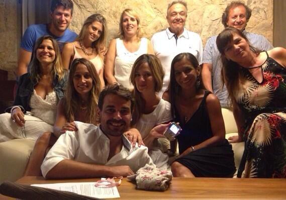 Paula Chaves y Pedro Alfonso empezaron el 2014 en familia en Villa Carlos Paz